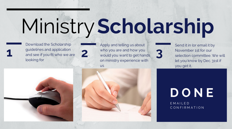 Annual Ministry Scholarship available